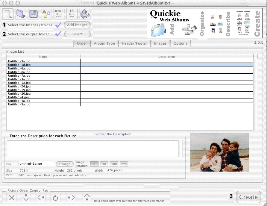Click to view Quickie Web Albums 4.4.0 screenshot